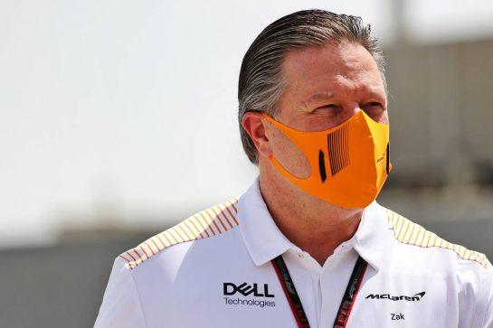 Zak Brown (USA) McLaren Executive Director. 26.03.2021. Formula 1 World Championship, Rd 1, Bahrain Grand Prix, Sakhir, Bahrain, Practice Day - www.xpbimages.com, EMail: requests@xpbimages.com © Copyright: Batchelor / XPB Images