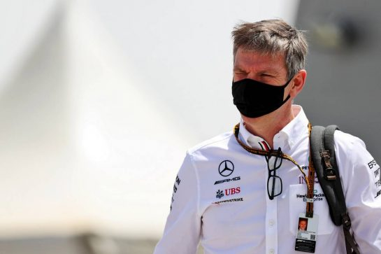 James Allison (GBR) Mercedes AMG F1 Technical Director. 26.03.2021. Formula 1 World Championship, Rd 1, Bahrain Grand Prix, Sakhir, Bahrain, Practice Day - www.xpbimages.com, EMail: requests@xpbimages.com © Copyright: Batchelor / XPB Images
