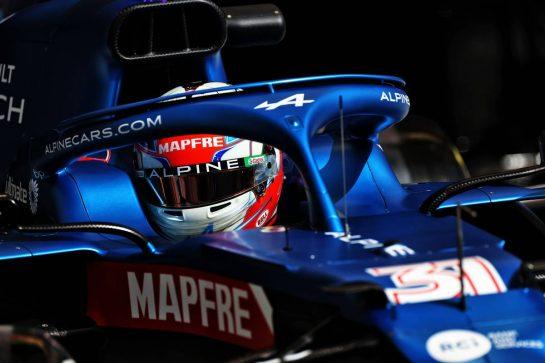 Esteban Ocon (FRA) Alpine F1 Team A521. 26.03.2021. Formula 1 World Championship, Rd 1, Bahrain Grand Prix, Sakhir, Bahrain, Practice Day - www.xpbimages.com, EMail: requests@xpbimages.com © Copyright: Moy / XPB Images