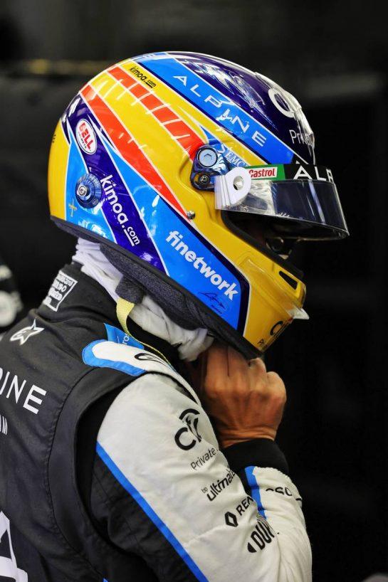 Fernando Alonso (ESP) Alpine F1 Team. 26.03.2021. Formula 1 World Championship, Rd 1, Bahrain Grand Prix, Sakhir, Bahrain, Practice Day - www.xpbimages.com, EMail: requests@xpbimages.com © Copyright: Moy / XPB Images