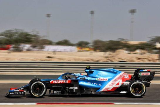 Esteban Ocon (FRA) Alpine F1 Team A521. 26.03.2021. Formula 1 World Championship, Rd 1, Bahrain Grand Prix, Sakhir, Bahrain, Practice Day - www.xpbimages.com, EMail: requests@xpbimages.com © Copyright: Batchelor / XPB Images