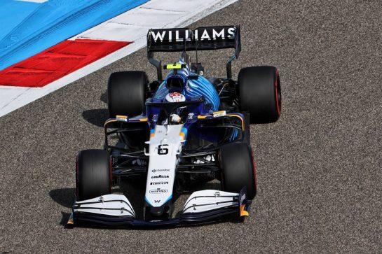 Nicholas Latifi (CDN) Williams Racing FW43B. 26.03.2021. Formula 1 World Championship, Rd 1, Bahrain Grand Prix, Sakhir, Bahrain, Practice Day - www.xpbimages.com, EMail: requests@xpbimages.com © Copyright: Charniaux / XPB Images