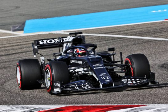 Yuki Tsunoda (JPN) AlphaTauri AT02. 26.03.2021. Formula 1 World Championship, Rd 1, Bahrain Grand Prix, Sakhir, Bahrain, Practice Day - www.xpbimages.com, EMail: requests@xpbimages.com © Copyright: Batchelor / XPB Images