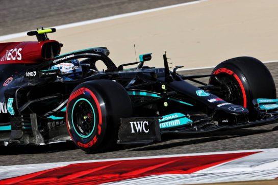 Valtteri Bottas (FIN) Mercedes AMG F1 W12. 26.03.2021. Formula 1 World Championship, Rd 1, Bahrain Grand Prix, Sakhir, Bahrain, Practice Day - www.xpbimages.com, EMail: requests@xpbimages.com © Copyright: Batchelor / XPB Images