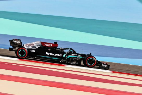 Lewis Hamilton (GBR) Mercedes AMG F1 W12. 27.03.2021. Formula 1 World Championship, Rd 1, Bahrain Grand Prix, Sakhir, Bahrain, Qualifying Day. - www.xpbimages.com, EMail: requests@xpbimages.com © Copyright: Charniaux / XPB Images