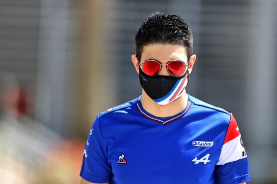 Esteban Ocon (FRA) Alpine F1 Team. 28.03.2021. Formula 1 World Championship, Rd 1, Bahrain Grand Prix, Sakhir, Bahrain, Race Day. - www.xpbimages.com, EMail: requests@xpbimages.com © Copyright: Moy / XPB Images