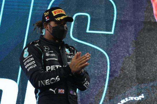 1st place Lewis Hamilton (GBR) Mercedes AMG F1 W12.28.03.2021. Formula 1 World Championship, Rd 1, Bahrain Grand Prix, Sakhir, Bahrain, Race Day.- www.xpbimages.com, EMail: requests@xpbimages.com © Copyright: Batchelor / XPB Images