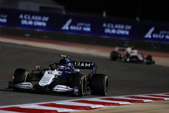 Nicholas Latifi (CDN) Williams Racing FW43B.28.03.2021. Formula 1 World Championship, Rd 1, Bahrain Grand Prix, Sakhir, Bahrain, Race Day.- www.xpbimages.com, EMail: requests@xpbimages.com © Copyright: Batchelor / XPB Images
