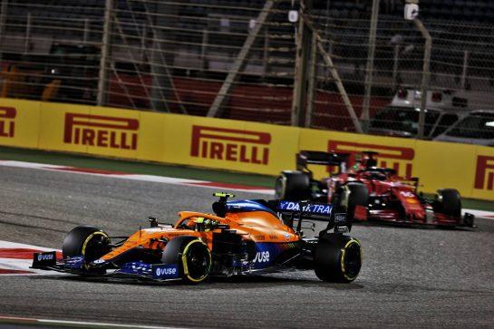 Lando Norris (GBR) McLaren MCL35M. 28.03.2021. Formula 1 World Championship, Rd 1, Bahrain Grand Prix, Sakhir, Bahrain, Race Day. - www.xpbimages.com, EMail: requests@xpbimages.com © Copyright: Batchelor / XPB Images