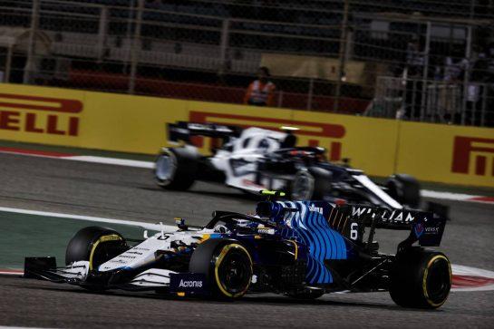 Nicholas Latifi (CDN) Williams Racing FW43B. 28.03.2021. Formula 1 World Championship, Rd 1, Bahrain Grand Prix, Sakhir, Bahrain, Race Day. - www.xpbimages.com, EMail: requests@xpbimages.com © Copyright: Batchelor / XPB Images