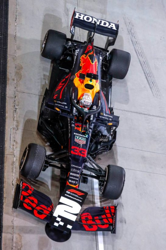 Second placed Max Verstappen (NLD) Red Bull Racing RB16B in parc ferme. 28.03.2021. Formula 1 World Championship, Rd 1, Bahrain Grand Prix, Sakhir, Bahrain, Race Day. - www.xpbimages.com, EMail: requests@xpbimages.com © Copyright: FIA Pool Image for Editorial Use Only