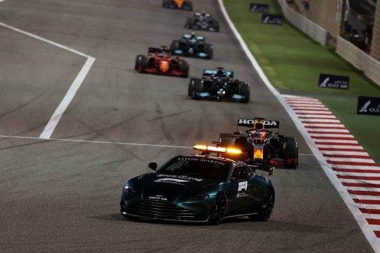 Aston Martin Safety car.28.03.2021. Formula 1 World Championship, Rd 1, Bahrain Grand Prix, Sakhir, Bahrain, Race Day.- www.xpbimages.com, EMail: requests@xpbimages.com © Copyright: Batchelor / XPB Images