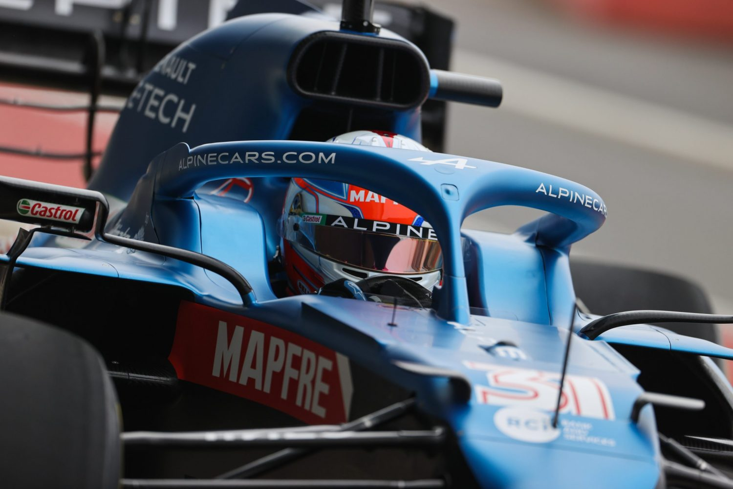 Ocon shakes down Alpine A521 at Silverstone