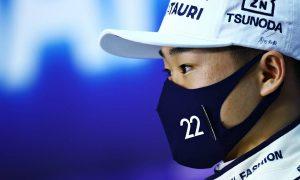 Emotional Tsunoda trying to cut down on 'swearing'