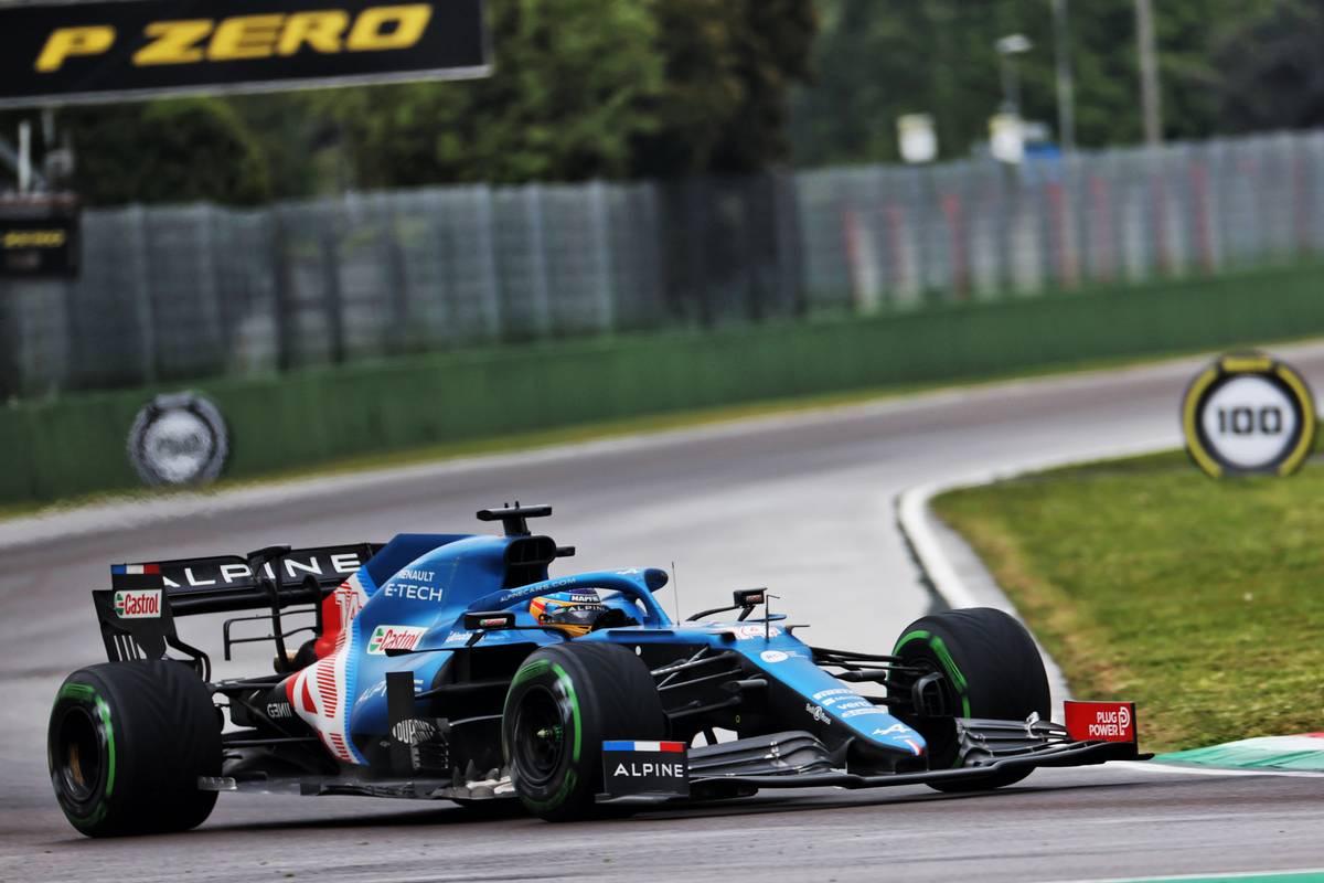 Fernando Alonso (ESP) Alpine F1 Team A521. 18.04.2021. Formula 1 World Championship, Rd 2, Emilia Romagna Grand Prix, Imola