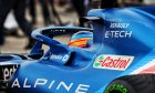 Fernando Alonso (ESP) Alpine F1 Team A521 in the pits while the race is stopped. 18.04.2021. Formula 1 World Championship, Rd 2, Emilia Romagna Grand Prix, Imola