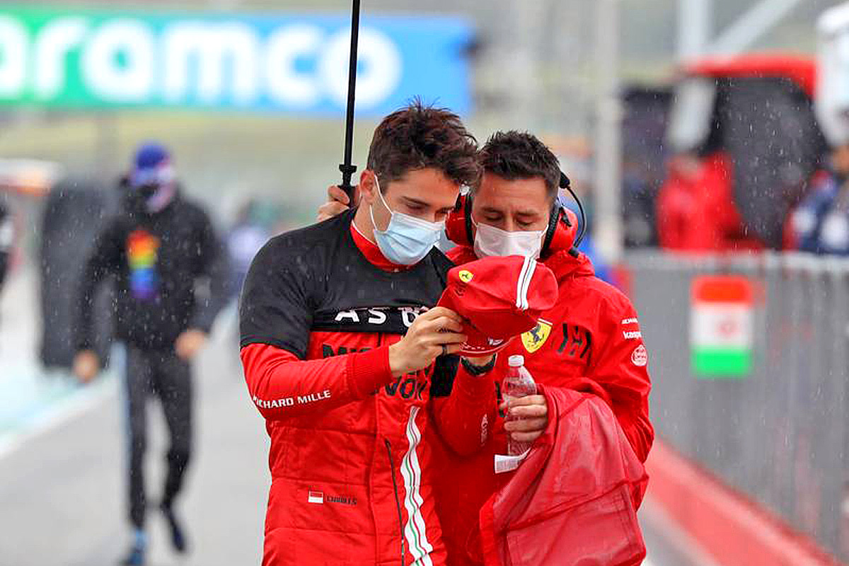 Charles Leclerc (MON) Ferrari on the grid. 18.04.2021. Formula 1 World Championship, Rd 2, Emilia Romagna Grand Prix, Imola