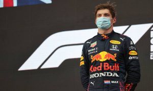 Verstappen admits he was 'lucky' not to spin at restart