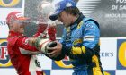 Michael Schumacher, GER, Ferrari and Fernando Alonso, ESP, Renault F1 Team - April, Formula 1 World Championship, Rd 4, San Marino Grand Prix