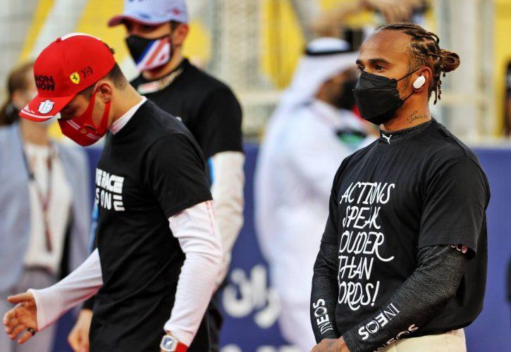 Lewis Hamilton (GBR) Mercedes AMG F1 on the grid. 28.03.2021. Formula 1 World Championship, Rd 1, Bahrain Grand Prix, Sakhir