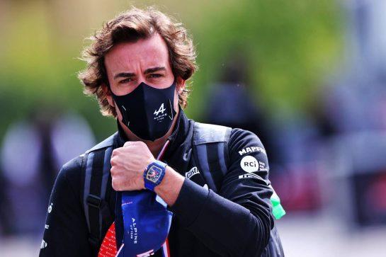 Fernando Alonso (ESP) Alpine F1 Team. 15.04.2021. Formula 1 World Championship, Rd 2, Emilia Romagna Grand Prix, Imola, Italy, Preparation Day. - www.xpbimages.com, EMail: requests@xpbimages.com © Copyright: Moy / XPB Images
