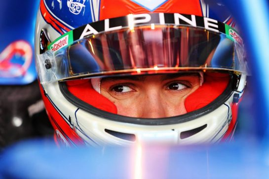 Esteban Ocon (FRA) Alpine F1 Team A521. 15.04.2021. Formula 1 World Championship, Rd 2, Emilia Romagna Grand Prix, Imola, Italy, Preparation Day. - www.xpbimages.com, EMail: requests@xpbimages.com © Copyright: Moy / XPB Images