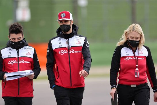 Antonio Giovinazzi (ITA), Alfa Romeo Racing 15.04.2021. Formula 1 World Championship, Rd 2, Emilia Romagna Grand Prix, Imola, Italy, Preparation Day.- www.xpbimages.com, EMail: requests@xpbimages.com © Copyright: Charniaux / XPB Images