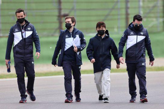 Yuki Tsunoda (JPN), Alpha Tauri 15.04.2021. Formula 1 World Championship, Rd 2, Emilia Romagna Grand Prix, Imola, Italy, Preparation Day.- www.xpbimages.com, EMail: requests@xpbimages.com © Copyright: Charniaux / XPB Images
