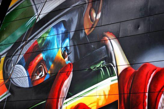 Circuit atmosphere - Ayrton Senna tribute. 15.04.2021. Formula 1 World Championship, Rd 2, Emilia Romagna Grand Prix, Imola, Italy, Preparation Day. - www.xpbimages.com, EMail: requests@xpbimages.com © Copyright: Moy / XPB Images