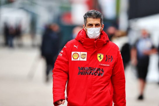 Claudio Albertini (ITA) Ferrari Head of Track Operations. 15.04.2021. Formula 1 World Championship, Rd 2, Emilia Romagna Grand Prix, Imola, Italy, Preparation Day. - www.xpbimages.com, EMail: requests@xpbimages.com © Copyright: Moy / XPB Images