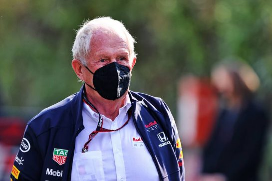 Dr Helmut Marko (AUT) Red Bull Motorsport Consultant. 16.04.2021. Formula 1 World Championship, Rd 2, Emilia Romagna Grand Prix, Imola, Italy, Practice Day. - www.xpbimages.com, EMail: requests@xpbimages.com © Copyright: Moy / XPB Images