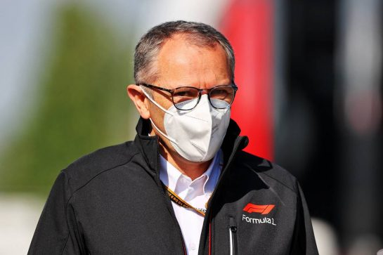 Stefano Domenicali (ITA) Formula One President and CEO. 16.04.2021. Formula 1 World Championship, Rd 2, Emilia Romagna Grand Prix, Imola, Italy, Practice Day. - www.xpbimages.com, EMail: requests@xpbimages.com © Copyright: Moy / XPB Images