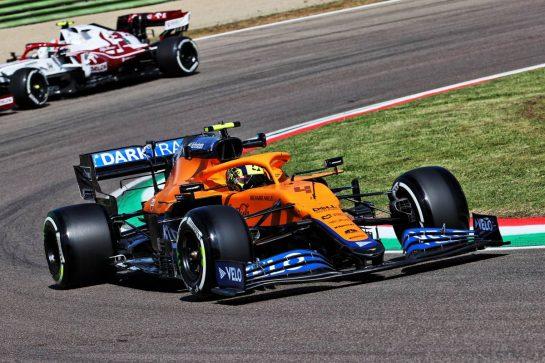 Lando Norris (GBR) McLaren MCL35M. 16.04.2021. Formula 1 World Championship, Rd 2, Emilia Romagna Grand Prix, Imola, Italy, Practice Day. - www.xpbimages.com, EMail: requests@xpbimages.com © Copyright: Batchelor / XPB Images