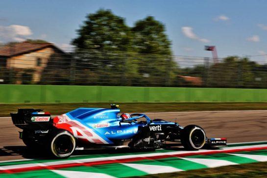 Esteban Ocon (FRA) Alpine F1 Team A521. 16.04.2021. Formula 1 World Championship, Rd 2, Emilia Romagna Grand Prix, Imola, Italy, Practice Day. - www.xpbimages.com, EMail: requests@xpbimages.com © Copyright: Batchelor / XPB Images