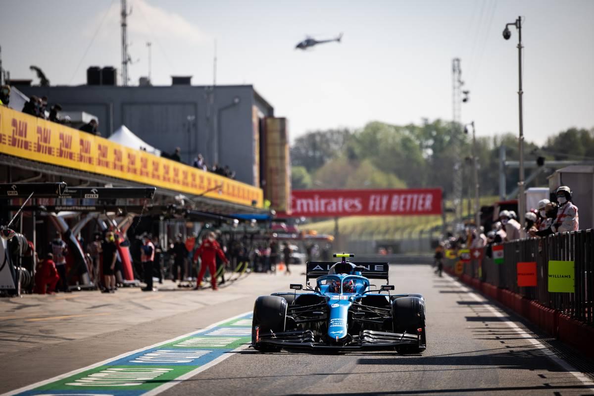 Esteban Ocon (FRA) Alpine F1 Team A521. 16.04.2021. Formula 1 World Championship, Rd 2, Emilia Romagna Grand Prix, Imola