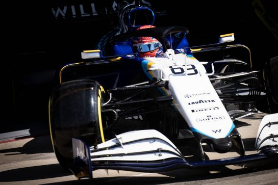George Russell (GBR) Williams Racing FW43B. 16.04.2021. Formula 1 World Championship, Rd 2, Emilia Romagna Grand Prix, Imola, Italy, Practice Day. - www.xpbimages.com, EMail: requests@xpbimages.com © Copyright: Bearne / XPB Images