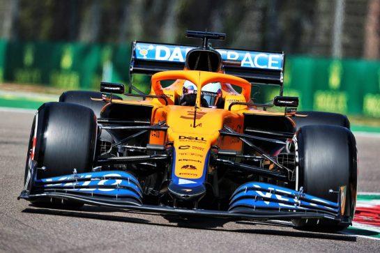 Daniel Ricciardo (AUS) McLaren MCL35M. 16.04.2021. Formula 1 World Championship, Rd 2, Emilia Romagna Grand Prix, Imola, Italy, Practice Day. - www.xpbimages.com, EMail: requests@xpbimages.com © Copyright: Charniaux / XPB Images