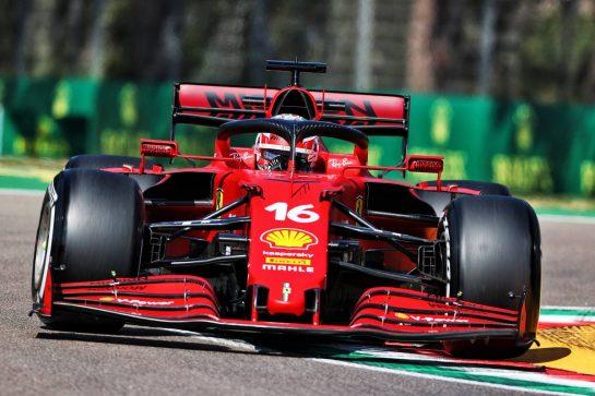 Charles Leclerc (MON) Ferrari SF-21. 16.04.2021. Formula 1 World Championship, Rd 2, Emilia Romagna Grand Prix, Imola, Italy, Practice Day. - www.xpbimages.com, EMail: requests@xpbimages.com © Copyright: Charniaux / XPB Images