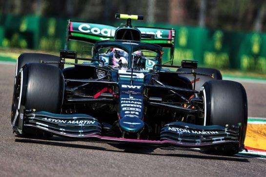 Sebastian Vettel (GER) Aston Martin F1 Team AMR21. 16.04.2021. Formula 1 World Championship, Rd 2, Emilia Romagna Grand Prix, Imola, Italy, Practice Day. - www.xpbimages.com, EMail: requests@xpbimages.com © Copyright: Charniaux / XPB Images