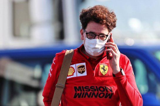 Mattia Binotto (ITA) Ferrari Team Principal. 16.04.2021. Formula 1 World Championship, Rd 2, Emilia Romagna Grand Prix, Imola, Italy, Practice Day. - www.xpbimages.com, EMail: requests@xpbimages.com © Copyright: Charniaux / XPB Images