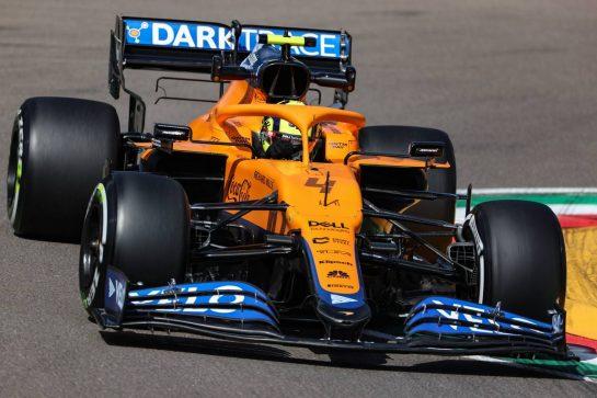 Lando Norris (GBR), McLaren F1 Team 16.04.2021. Formula 1 World Championship, Rd 2, Emilia Romagna Grand Prix, Imola, Italy, Practice Day.- www.xpbimages.com, EMail: requests@xpbimages.com © Copyright: Charniaux / XPB Images