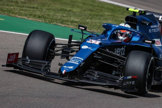 Esteban Ocon (FRA), Alpine F1 Team 16.04.2021. Formula 1 World Championship, Rd 2, Emilia Romagna Grand Prix, Imola, Italy, Practice Day.- www.xpbimages.com, EMail: requests@xpbimages.com © Copyright: Charniaux / XPB Images