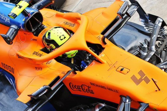 Lando Norris (GBR) McLaren MCL35M. 16.04.2021. Formula 1 World Championship, Rd 2, Emilia Romagna Grand Prix, Imola, Italy, Practice Day. - www.xpbimages.com, EMail: requests@xpbimages.com © Copyright: Moy / XPB Images