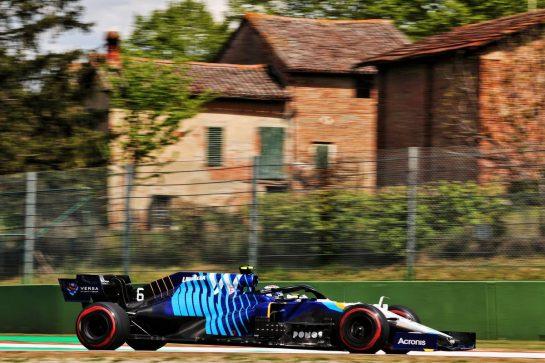 Nicholas Latifi (CDN) Williams Racing FW43B. 16.04.2021. Formula 1 World Championship, Rd 2, Emilia Romagna Grand Prix, Imola, Italy, Practice Day. - www.xpbimages.com, EMail: requests@xpbimages.com © Copyright: Batchelor / XPB Images