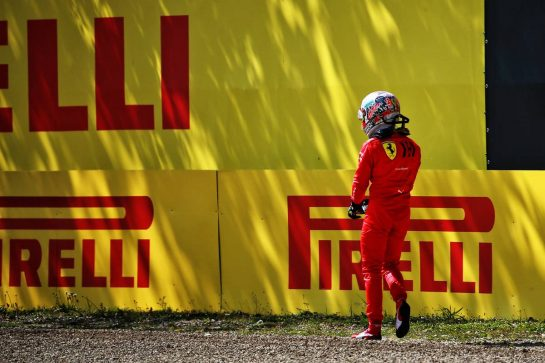 Charles Leclerc (MON) Ferrari crashed in the second practice session.