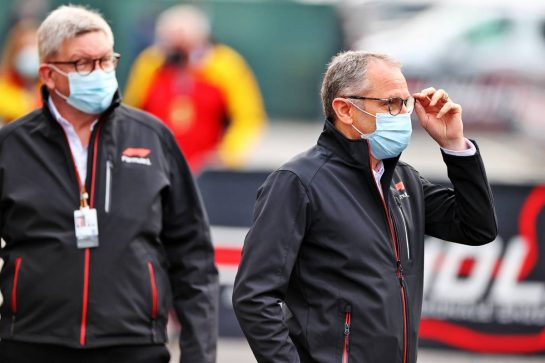 Stefano Domenicali (ITA) Formula One President and CEO. 17.04.2021. Formula 1 World Championship, Rd 2, Emilia Romagna Grand Prix, Imola, Italy, Qualifying Day. - www.xpbimages.com, EMail: requests@xpbimages.com © Copyright: Moy / XPB Images