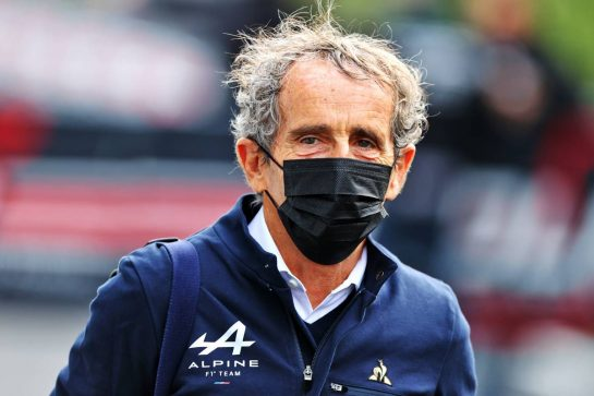 Alain Prost (FRA) Alpine F1 Team Non-Executive Director. 17.04.2021. Formula 1 World Championship, Rd 2, Emilia Romagna Grand Prix, Imola, Italy, Qualifying Day. - www.xpbimages.com, EMail: requests@xpbimages.com © Copyright: Moy / XPB Images