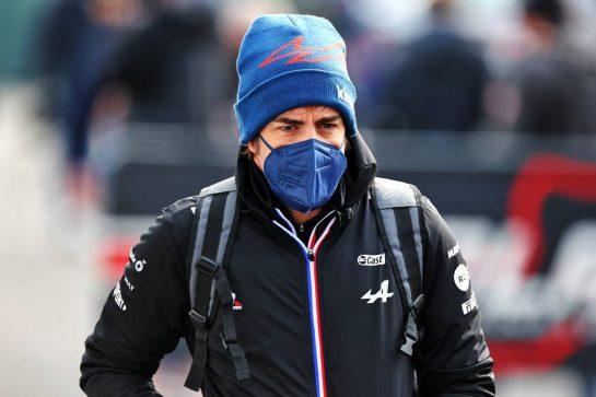 Fernando Alonso (ESP) Alpine F1 Team. 17.04.2021. Formula 1 World Championship, Rd 2, Emilia Romagna Grand Prix, Imola, Italy, Qualifying Day. - www.xpbimages.com, EMail: requests@xpbimages.com © Copyright: Moy / XPB Images