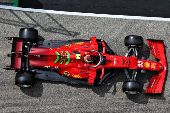 Carlos Sainz Jr (ESP) Ferrari SF-21. 17.04.2021. Formula 1 World Championship, Rd 2, Emilia Romagna Grand Prix, Imola, Italy, Qualifying Day. - www.xpbimages.com, EMail: requests@xpbimages.com © Copyright: Batchelor / XPB Images