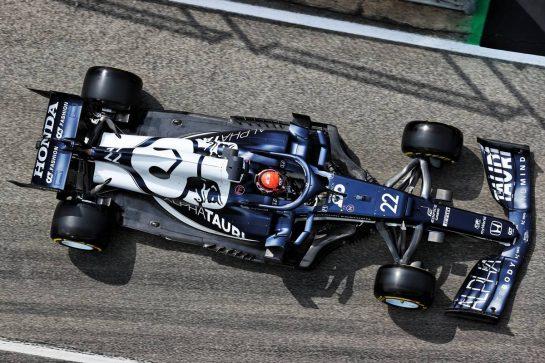 Yuki Tsunoda (JPN) AlphaTauri AT02. 17.04.2021. Formula 1 World Championship, Rd 2, Emilia Romagna Grand Prix, Imola, Italy, Qualifying Day. - www.xpbimages.com, EMail: requests@xpbimages.com © Copyright: Batchelor / XPB Images